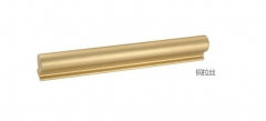 Gold one meter long aluminum alloy profile handle modern simple brushed brass cabinet handle