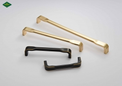 Manufacturer direct sales gold handle wardrobe door handle North European simple cabinet drawer zinc alloy handle