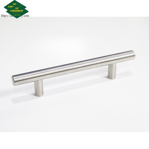 Furniture T bar hollow stainless steel kitchen cabinet door pull handle